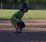 Carter standing on 3rd base...