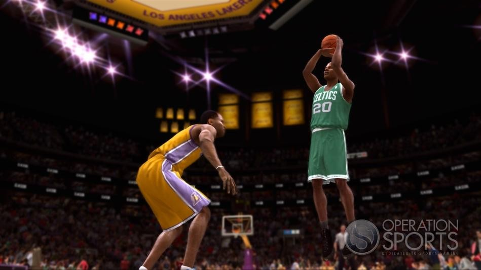 NBA Live 09 Celtics Lakers Screenshot