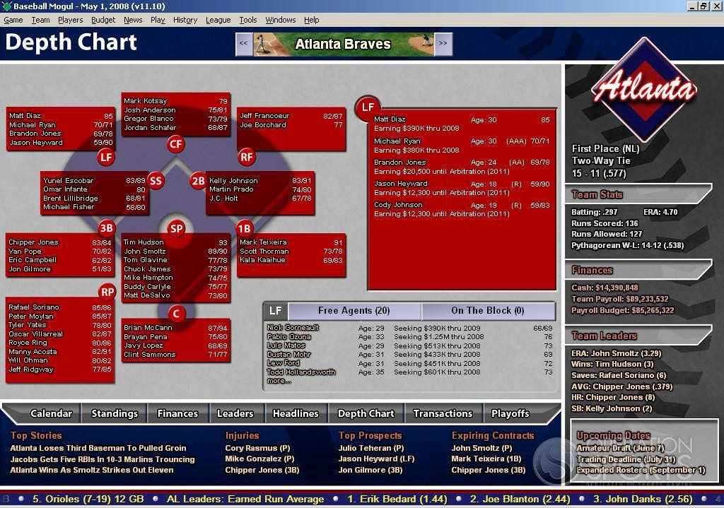 Depth Chart Baseball Template: Software Free Download ...