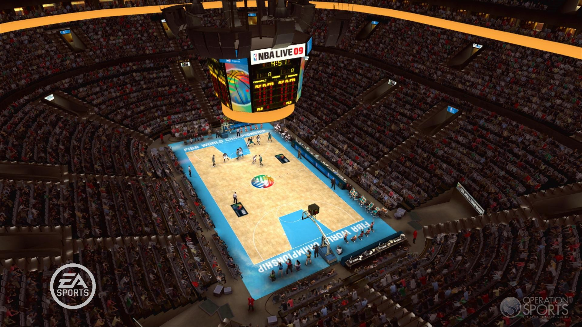 NBA Live 09 Screenshot FIBA Court